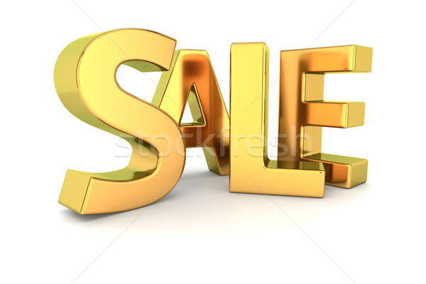 Golden sale Stock photo © timbrk