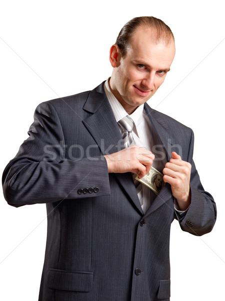 бизнесмен деньги кармана бумаги человека работник Сток-фото © timbrk