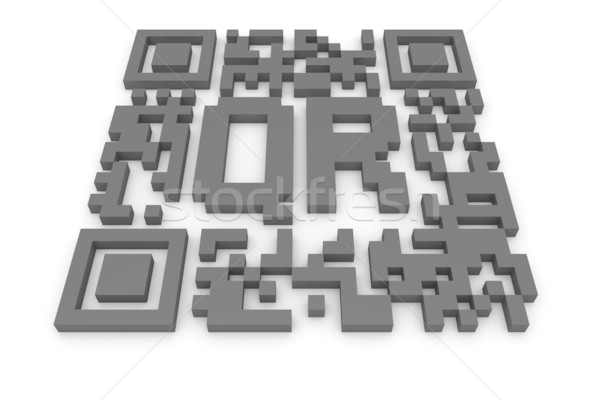 QR-code with letters Stock photo © timbrk
