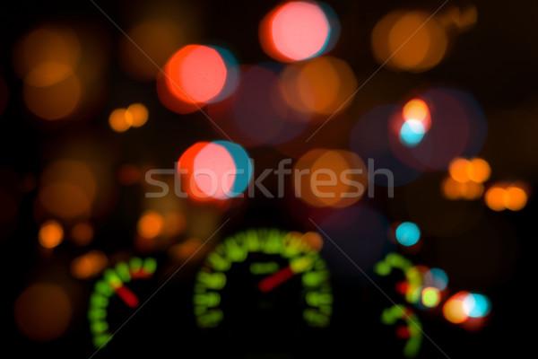 Tablica rozdzielcza rozmycie zamazany światła świetle tle Zdjęcia stock © timbrk