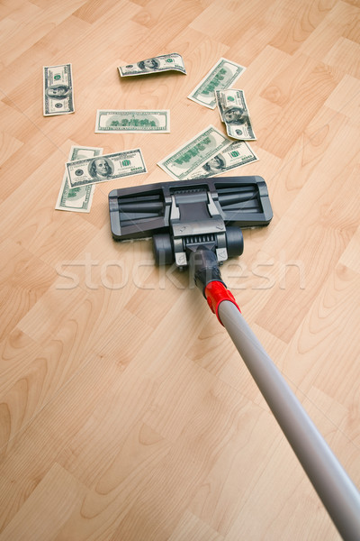Vacuum cleaner and money Stock photo © timbrk