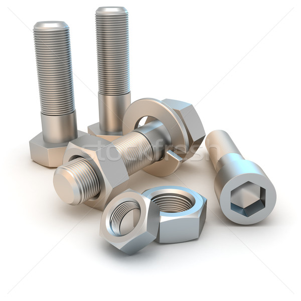 Nuts and bolts Stock photo © timbrk