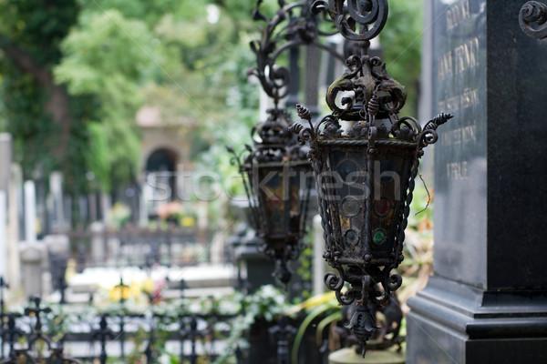 надгробная плита католический кладбище Прага Чешская республика Сток-фото © timbrk