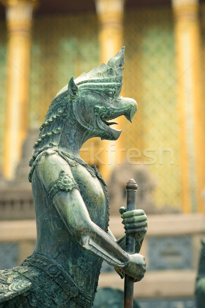 Sculpture of mythological warrior Stock photo © timbrk