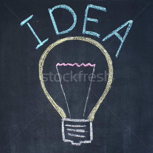 Stock photo: Inspiration bulb