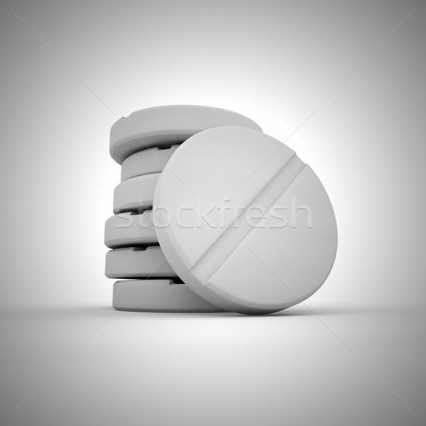 Tablets macro Stock photo © timbrk