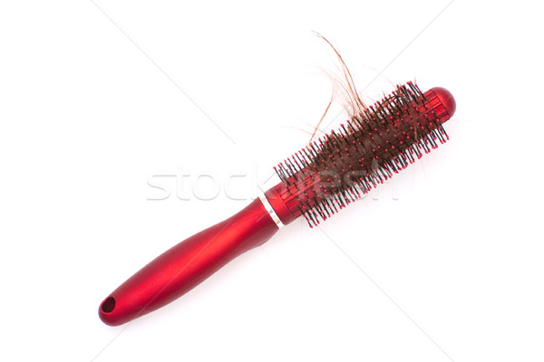 Hairbrush with tangled hair Stock photo © timbrk