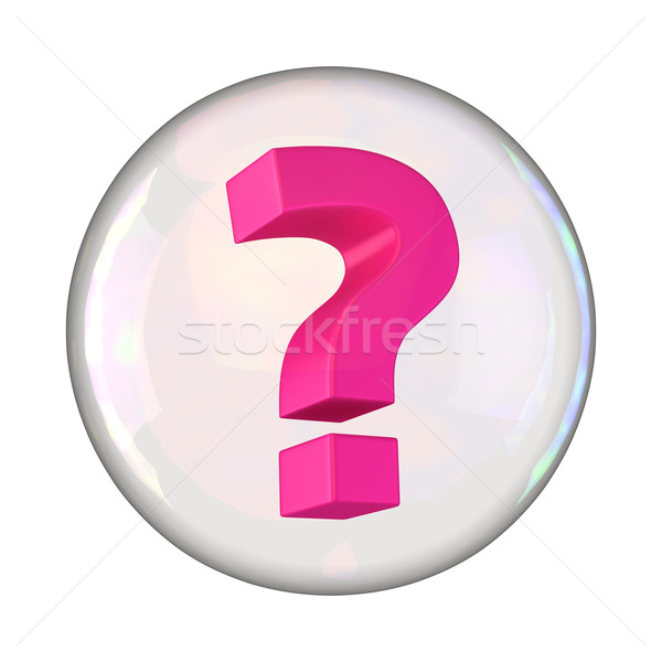 Question in the bubble Stock photo © timbrk