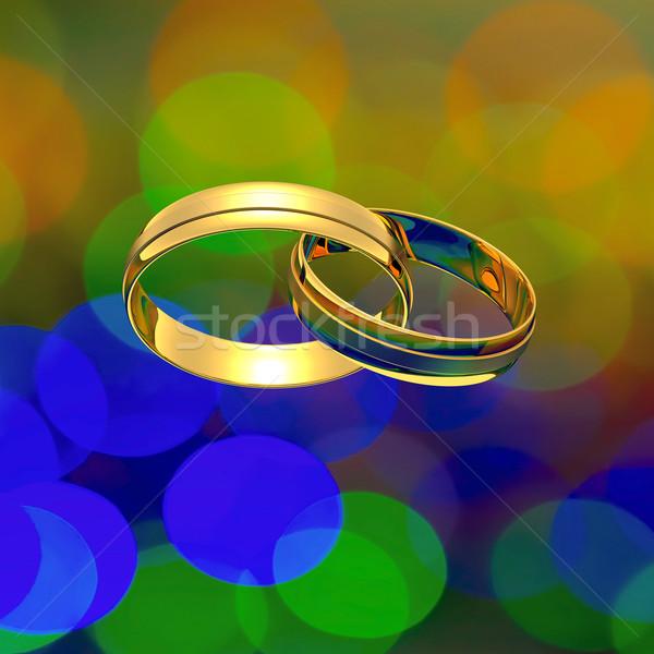 Interlocked rings Stock photo © timbrk