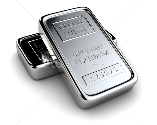 Two platinum ingots Stock photo © timbrk