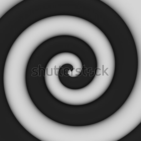 Bianco nero turbinio abstract contrasto spirale arte Foto d'archivio © timbrk