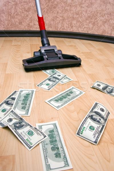 Dollars on the floor Stock photo © timbrk