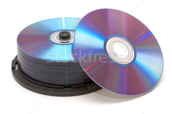 Pile of DVDs Stock photo © timbrk