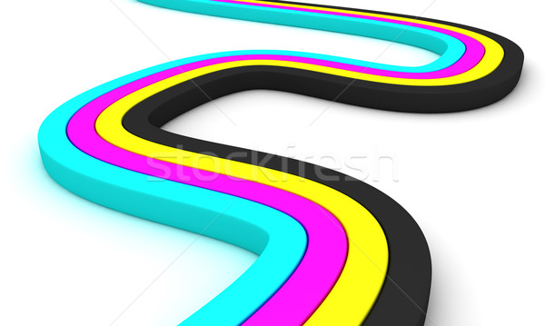 CMYK stripes Stock photo © timbrk