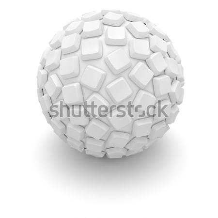 Pulsanti sfera bianco computer tasti coperto Foto d'archivio © timbrk