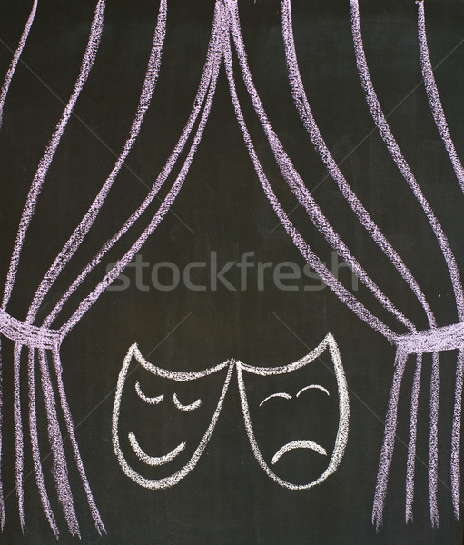 Comedy and tragedy masks Stock photo © timbrk