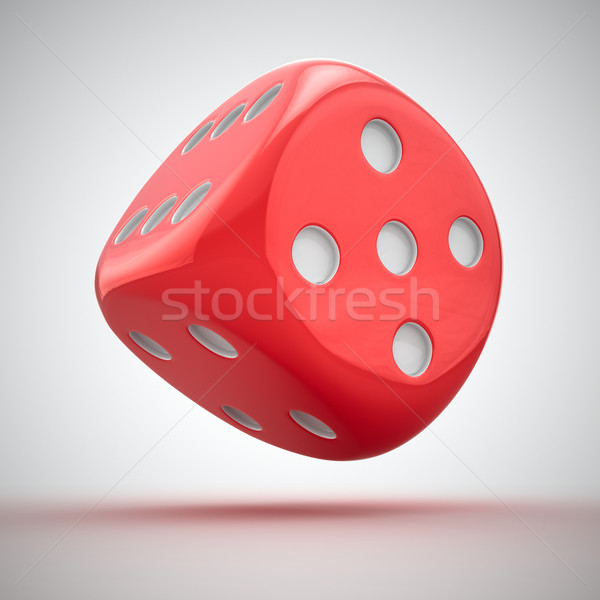 Red dice Stock photo © timbrk