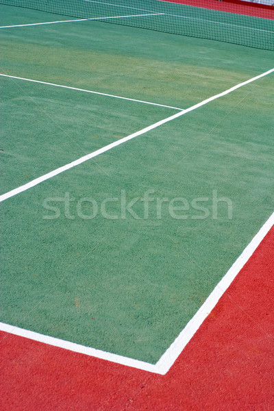 Lawn tennis court Stock photo © timbrk
