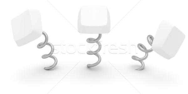 Keys on springs Stock photo © timbrk