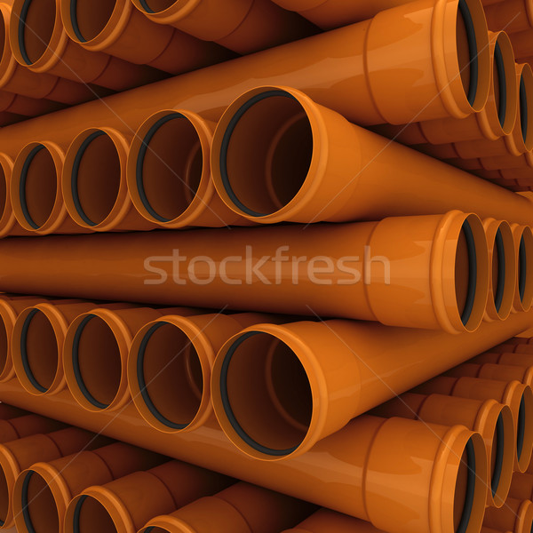 Drenar pipes marrom industrial cor Foto stock © timbrk