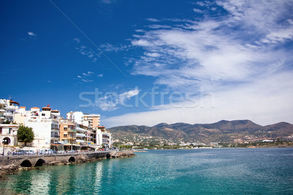 The embankment of Agios Nikolaos Stock photo © timbrk