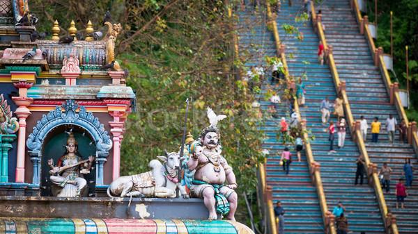 лестница высокий святыня архитектура статуя Азии Сток-фото © timbrk