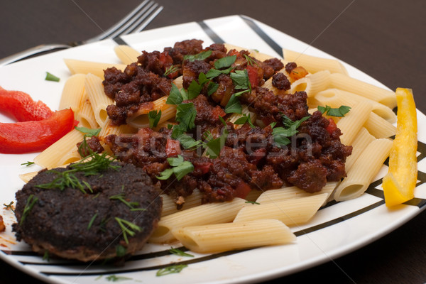 pasta and cutlet Stock photo © timbrk