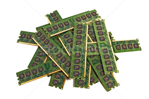 Heap of memory modules 2 Stock photo © timbrk