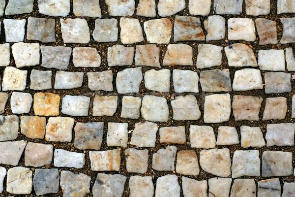 каменные блоки тротуаре текстуры дороги городского Сток-фото © timbrk