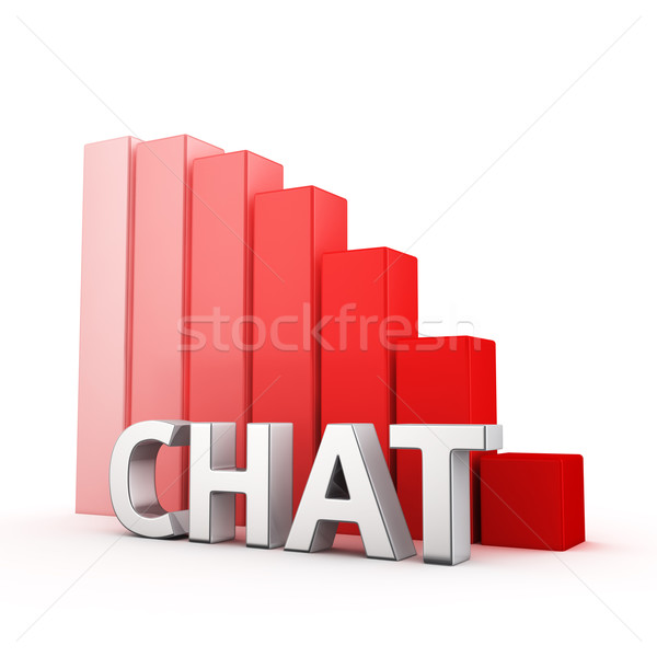Stock photo: Reduction of Chat
