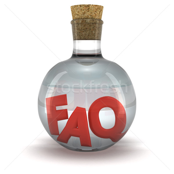 FAQ elixir Stock photo © timbrk