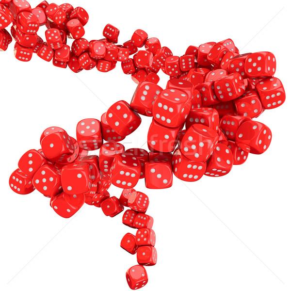 Gioco d'azzardo vortice molti rosso piano successo Foto d'archivio © timbrk