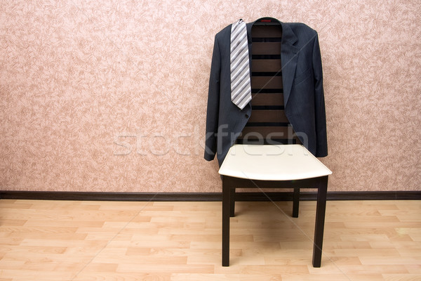 Jacket on the modern chair  Stock photo © timbrk