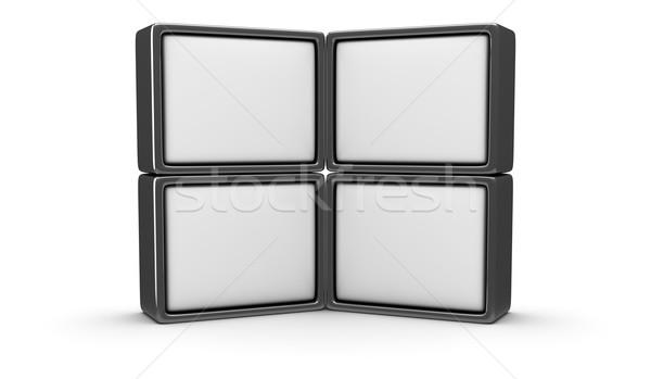Stock photo: Blank panels