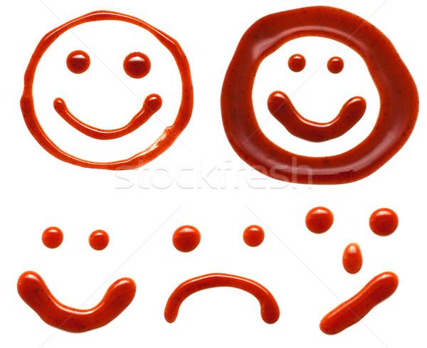 кетчуп улыбается изолированный белый продовольствие улыбка Сток-фото © timbrk