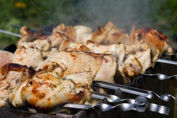 Chicken shashlik Stock photo © timbrk