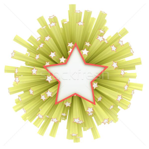 Tűzijáték csillagok repülés erőteljes robbanás modell Stock fotó © timbrk