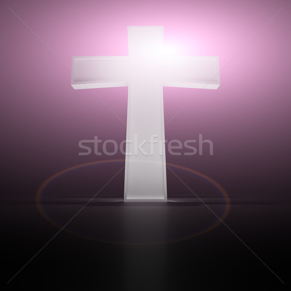 Christian cross viola Pasqua chiesa Foto d'archivio © timbrk