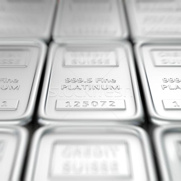 платина макроса мелкий металл Бар Сток-фото © timbrk