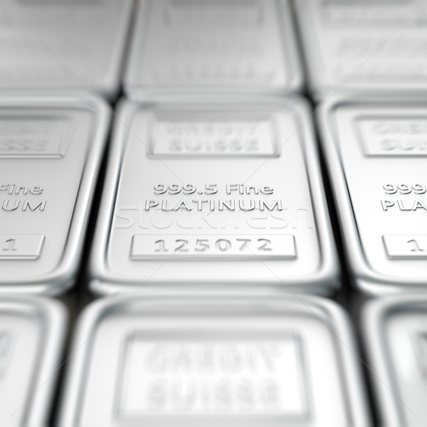 Platin makro sığ Metal bar Stok fotoğraf © timbrk