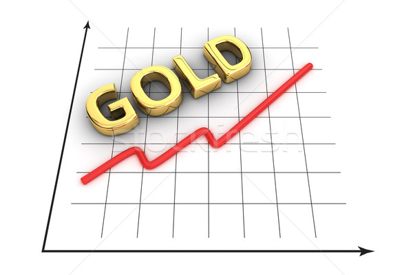 Growth curve of gold Stock photo © timbrk