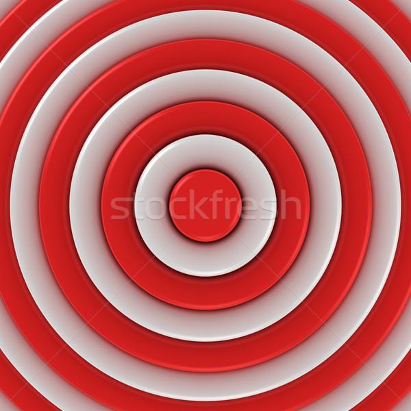 Ortak merkezli soyutlama kırmızı beyaz dizayn renk Stok fotoğraf © timbrk