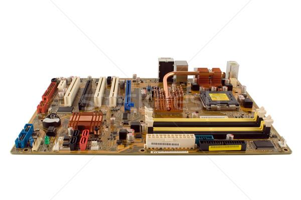 Izolált alaplap számítógép fehér technológia háttér Stock fotó © timbrk