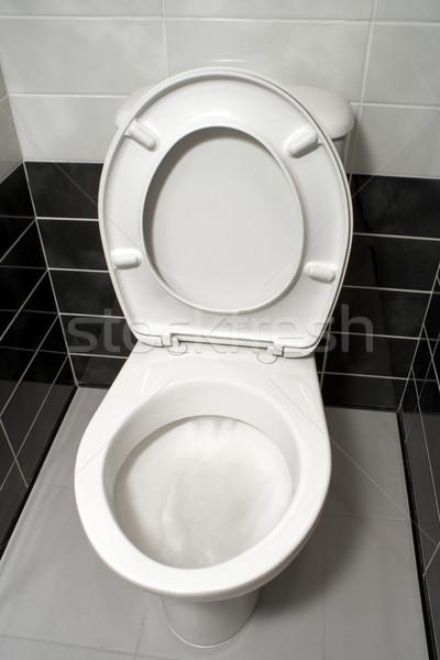 Open toilet seat Stock photo © timbrk