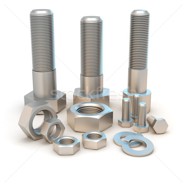 Bolts and screws Stock photo © timbrk