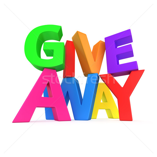 Text 'Giveaway' Stock photo © timbrk