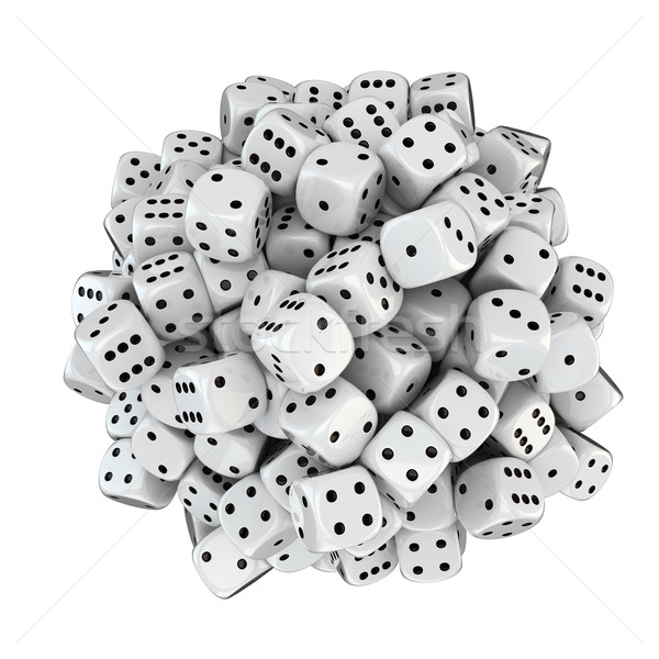 Sphere from white dice Stock photo © timbrk