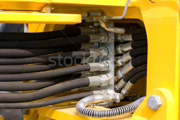 гидравлический металл кабеля машина трактора трубы Сток-фото © timbrk