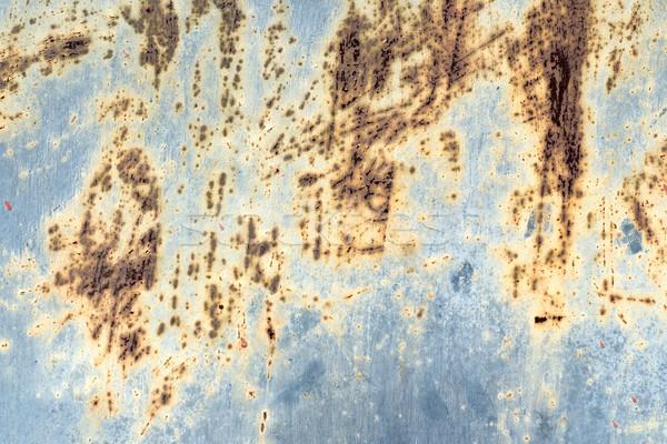 Korrózió minta rozsdás fém fal grunge Stock fotó © timbrk