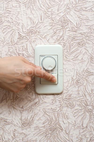 オフ 手 光 ルーム 壁 ホーム ストックフォト © timbrk
